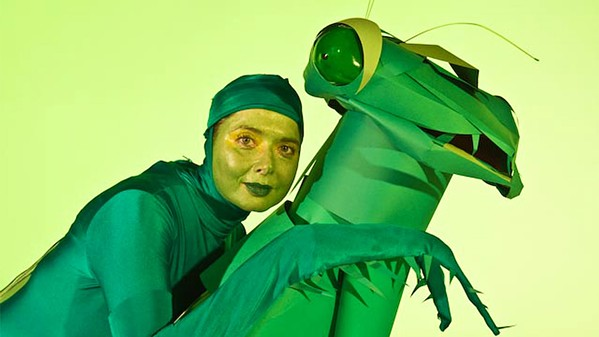 IF I WERE A PRAYING MANTIS: In Green Porno, Isabella Rossellini explores the sexual nature of animals and insects while dressed as those animals and insects. - PHOTO COURTESY OF SUNDANCETV