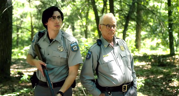 BARNEY FIFES? Centerville Police Chief Cliff Robertson (Bill Murray, right) and officer Ronnie Peterson (Adam Driver) try to stave off a zombie uprising. - PHOTOS COURTESY OF ANIMAL KINGDOM