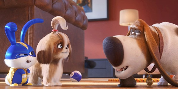 FOUR-LEGGED HEROES The pets are at it again: Snowball (Kevin Heart), Gidget (Jenny Slate), and Pops (Dana Carvey) team up to save their newest neighbor in the New York City, in The Secret Life of Pets 2. - PHOTO COURTESY OF UNIVERSAL PICTURES