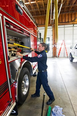 IN THE NOW Oceano and Grover Beach took their turns signing an amendment for the Five Cities Fire Authority that also creates a funding plan if Oceano backs out of the agreement next year. - FILE PHOTO BY JAYSON MELLOM