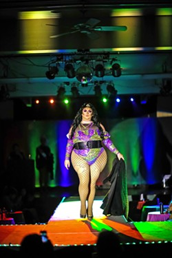 WALK THE WALK Drag queen Juicy CuntWhore was one of 18 who strutted down the runway at The Body Positive Fashion Show in June to celebrate all genders, all body types, differences, and ways of being. - PHOTOS BY JAYSON MELLOM