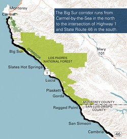 DEMAND Caltrans is collaborating with a stakeholder advisory committee to address the increasing visitor demand along the Big Sur Coast. - PHOTO COURTESY OF CALTRANS