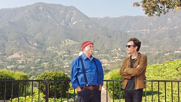 STOP, WHAT'S THAT SOUND? David Crosby and Jakob Dylan discuss the magic of the 1960s Laurel Canyon music scene, in the excellent new documentary Echo in the Canyon. - PHOTO COURTESY OF GREENWICH ENTERTAINMENT