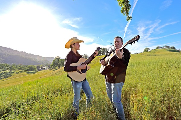 FAMILIES THAT PLAY TOGETHER STAY TOGETHER Father-and-son duo The Journals, featuring John David and Dylan Maxwell Krause, play Stax in Morro Bay on July 13. - PHOTO COURTESY OF THE JOURNALS