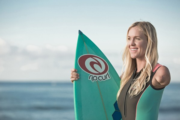 DETERMINATION Bethany Hamilton may have lost her arm to a tiger shark attack, but that didn't stop her from becoming a pro surfer, chronicled in the new documentary Bethany Hamilton: Unstoppable, screening exclusively at The Palm Theatre. - PHOTO COURTESY OF AARON LIEBER