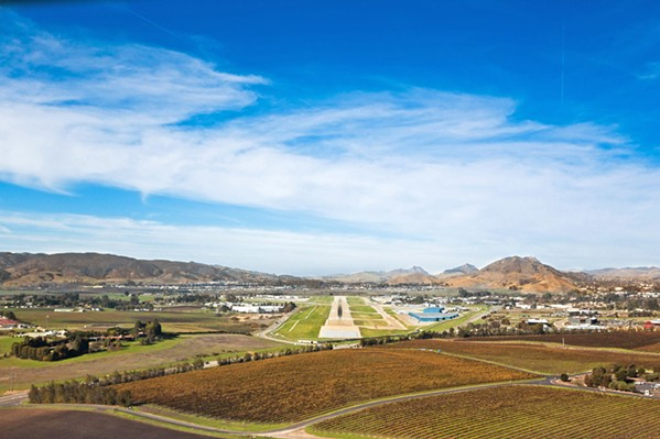 LOOKING TO THE SKY SLO County airport (pictured) recently added direct flights to Las Vegas, which may slightly impact the Vegas flights that the Santa Maria airport has offered for years. - FILE PHOTO BY KAORI FUNAHASHI
