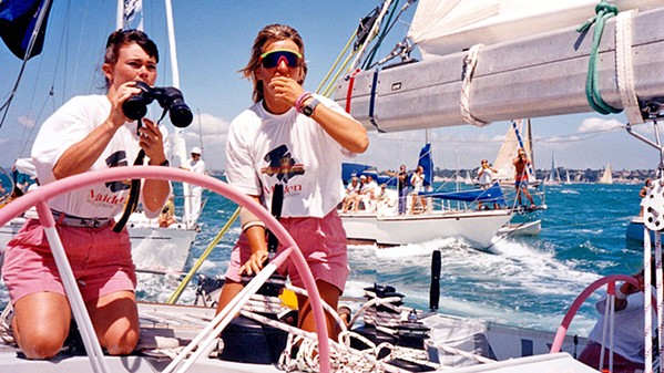 TRAIL BLAZERS In the documentary Maiden, we watch as 24-year-old charter boat cook Tracy Edwards (left) assembles a team of female sailors to enter the first all-female crew in the Whitbread Round the World Race in 1989. - PHOTO COURTESY OF NEW BLACK FILMS