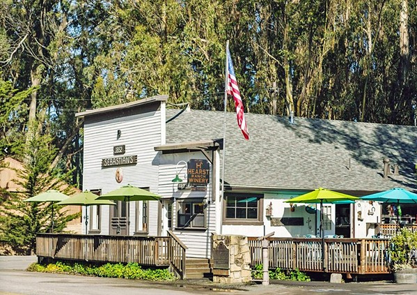 UPGRADES While the Sebastian building in San Simeon undergoes renovations the post office is looking for a new location. - PHOTO COURTESY OF HEARST RANCH WINERY