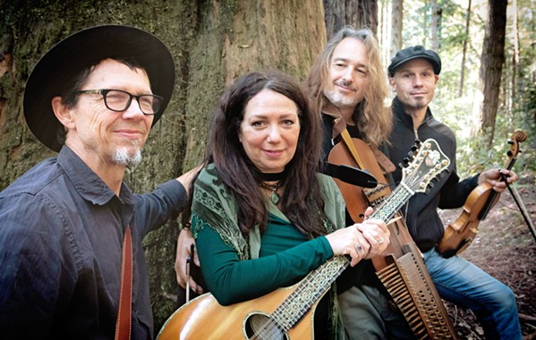 WORLD MUSIC Painted Sky hosts Nordic, Celtic, and American folk ensemble The New World String Project—(left to right) Stuart Mason, Lisa Lynne, Aryeh Frankfurter, and John Weed—on Aug. 16. - PHOTO COURTESY OF RYAN DAVIDSON