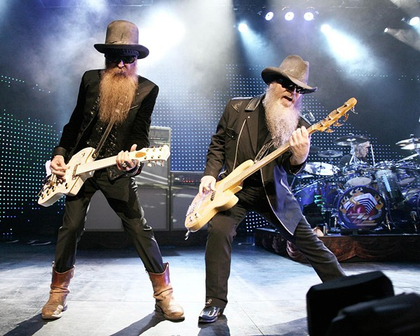 BEARDS OF ROCK ZZ Top will celebrate five decades of hit-making on Aug. 25, in Vina Robles Amphitheatre. Cheap Trick opens! - PHOTO COURTESY OF ZZ TOP