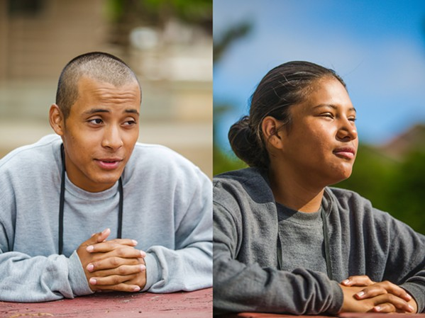 SETTING AN EXAMPLE Luis and Nidia Valenzuela are siblings from Fresno County who supported each other in the decision to better their lives by joining Grizzly Youth Academy together. - PHOTO BY JAYSON MELLOM