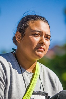 NEW PATH Evelyn Frausto once juggled two part-time jobs and school to pay for her car; however, when she's done with Grizzly Youth Academy, she wants to focus on her family. - PHOTO BY JAYSON MELLOM
