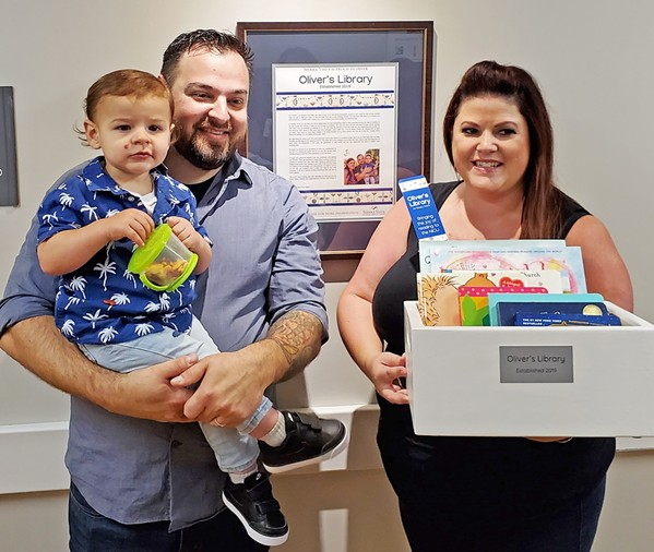 INSPIRED TO GIVE BACK Lalo and Jamie (right) Tejeda were inspired to give back to Sierra Vista after the exceptional care they received when their son, Oliver (left), was born prematurely. - PHOTO COURTESY OF SIERRA VISTA REGIONAL MEDICAL CENTER