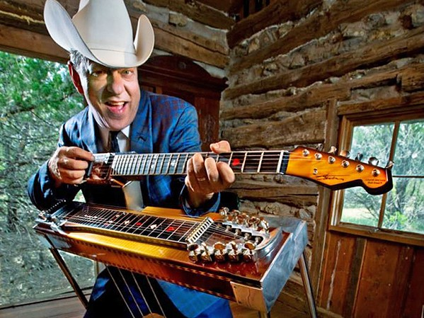 GUIT-STEEL Junior Brown brings his original country and original double-necked guitar into The Siren on Sept. 12. - PHOTO COURTESY OF JUNIOR BROWN