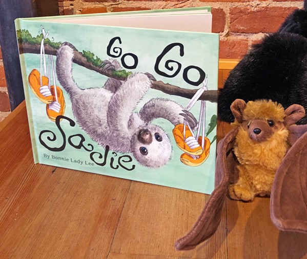GO, SADIE! Lee's book, Go Go Sadie, recently hit 10,000 copies sold. - PHOTOS BY MALEA MARTIN