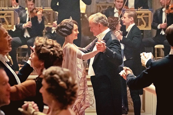 GOOD TO BE RICH Violet Crawley (Elizabeth McGovern) and Earl of Grantham Robert Crawley (Hugh Bonneville) take a spin across the dance floor in Downton Abbey, based on the TV series of the same name. - PHOTO COURTESY OF CARNIVAL FILM & TELEVISION