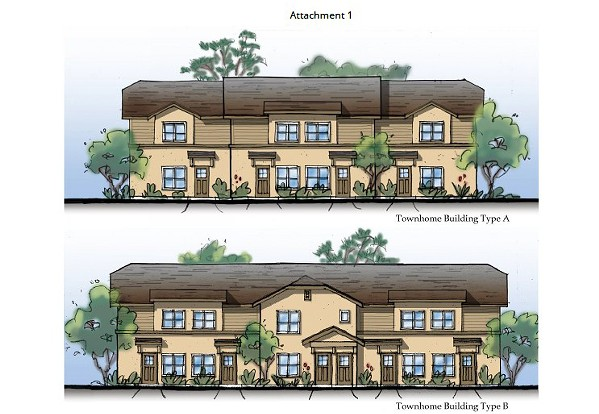 UP IN THE AIR A 33-unit apartment complex in Cambria is proposed at the existing location of the 24-unit multi-family Schoolhouse Lane Apartments. - PHOTO COURTESY OF SLO COUNTY