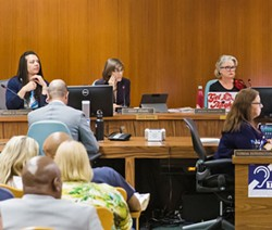 CODE QUESTION SLO Vice Mayor Andy Pease is seeking an opinion from the Fair Political Practices Commissions about whether she is allowed to vote on city building code policy while also owning an architectural consulting company. - PHOTO BY JAYSON MELLOM