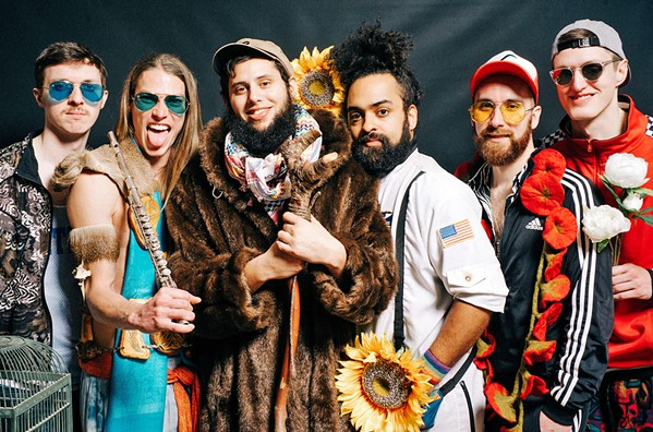 LET'S PARTY! Psychedelic pop group Joe Hertler & The Rainbow Seekers plays a two-band party for Rockin' R Winery's 10th anniversary celebration, on Oct. 5, in the SLO Brew Rock Event Center. - PHOTO COURTESY OF JOE HERTLER & THE RAINBOW SEEKERS
