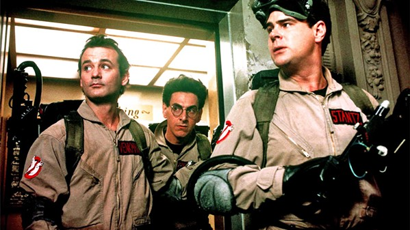 WHO YOU GONNA CALL? On its 35th anniversary, classic 1984 comedy Ghostbusters—starring (left to right) Bill Murray, Harold Ramis, and Dan Ackroyd—plays Downtown Center Cinemas on Oct. 6 and 10. - PHOTO COURTESY OF COLUMBIA PICTURES