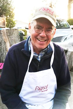 """CHATTING WITH FATHER BREAD Master Baker Mark Stambler deserves the nickname """"Father Bread."""" He was largely responsible for the law that allows home bakers to make a living from their goods, which makes this man a baking legend. - PHOTOS BY BETH GIUFFRE"""