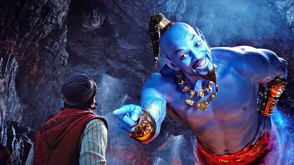BE CAREFUL WHAT YOU WISH FOR Street urchin Aladdin (Mena Massoud, left) discovers a magic genie (Will Smith) in a lamp, in a new-live action remake of Disney's animated classic, Aladdin. - PHOTO COURTESY OF WALT DISNEY PICTURES
