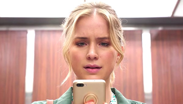 TIME TO DIE Quinn (Elizabeth Lail) downloads an app that purports to tell users the exact time of their death, and she's only got three days left, in the horror-thriller Countdown. - PHOTO COURTESY OF WRIGLEY PICTURES