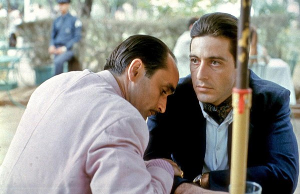 HARDENED New godfather Michael Corleone (Al Pacino, right) is forced to make hard choices about his inept brother Fredo (John Cazale), in The Godfather: Part II, screening Nov. 12 and 13 at Downtown Centre. - PHOTO COURTESY OF PARAMOUNT PICTURES