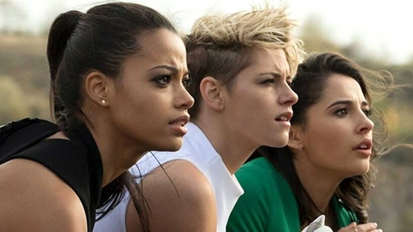 ANGELS TO THE RESCUE A trio of crime-fighting women—(left to right) Jane Kano (Ella Balinska), Sabina Wilson (Kristen Stewart), and Elena Houghlin (Naomi Scott)—must save humanity from a dangerous new technology, in Charlie's Angels. - PHOTO COURTESY OF COLUMBIA PICTURES