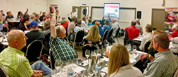"""TANNIN, ACIDITY, SWEETNESS About 100 people attended Melanie Webber's """"How to Taste Wine Like a Pro"""" Garagiste wine seminar to experience a deeper understanding of the nuances of wine. - PHOTO COURTESY OF MELANIE WEBBER"""