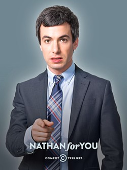 BAD ADVICE Comedian Nathan Fielder plays a fictionalized version of himself in Nathan For You, traveling to small businesses to offer terrible and borderline illegal advice. - PHOTO COURTESY COMEDY CENTRAL