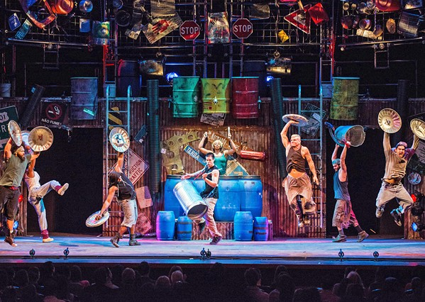 BIG BANG Witness the percussive thunder of Stomp, returning to the PAC on Nov. 30. - PHOTO COURTESY OF STEVE MCNICHOLAS