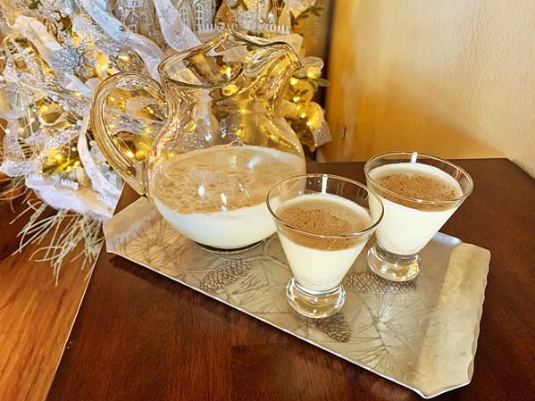 Homemade eggnog - PHOTOS BY CAMILLIA LANHAM