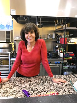 A DASH OF WISDOM One of the ingredients always on the menu at Debbie Duggan's Central Coast Culinary Cooking Classes is the warm company of a chef who has been cooking for 20 years and enjoys sharing the tricks and tools of her trade. - PHOTO BY BETH GIUFFRE