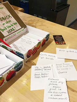 YOUR STORE Caliwala Market's owner, Erin Inglish, invites Santa Margarita residents to make their needs and wants known through the store's suggestion box. - PHOTOS BY BETH GIUFFRE