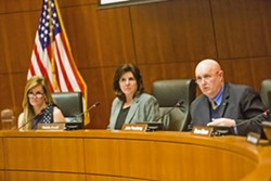 ON THE AGENDA The SLO County Board of Supervisors narrowly voted on Dec. 17 to consider extending a policy that allows cannabis growers to continue farming while they work to obtain land-use permits. - FILE PHOTO BY JAYSON MELLOM