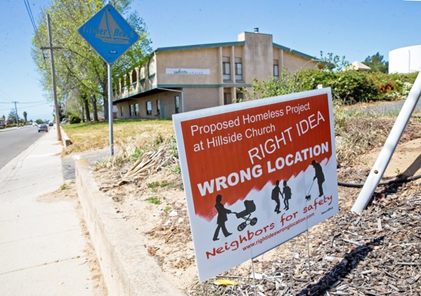 NIMBYS A homeless services center project changed locations after its proposed space at Hillside Church in Grover Beach faced vehement opposition from neighbors. - FILE PHOTO BY JAYSON MELLOM
