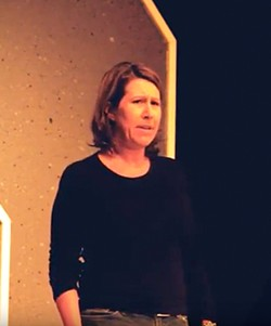 """WHAT STARTED IT ALL Actress Suzy Newman acts out the original five-minute monologue that David Norum wrote for SLO Rep's """"No Shame"""" program. The 2014 monologue has now evolved into an hour-long original play about domestic violence. - SCREENSHOT FROM VIDEO COURTESY OF RYAN LOYD, RYLO MEDIA DESIGN"""