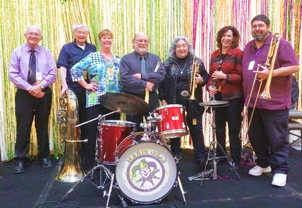 HOT SWINGING JAZZ The Midnight Rose Jazz Band plays the Pismo Vets Hall on Jan. 26, as part of the Basin Street Regulars hot jazz series. - PHOTO COURTESY OF THE MIDNIGHT ROSE JAZZ BAND