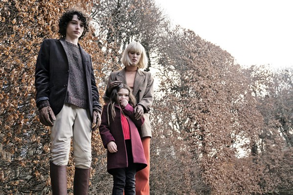 CREEPY The Turning, an update of Henry James' horror novella The Turn of the Screw, features (left to right) disturbed orphans Miles (Finn Wolfhard) and Flora (Brooklynn Prince), and their governess, Kate (Mackenzie Davis). - PHOTO COURTESY OF UNIVERSAL PICTURES
