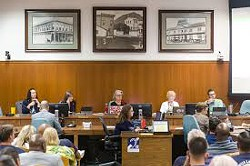 PAY DAY The San Luis Obispo City Council unanimously voted in favor of 63 and 46 percent raises for city council members and the mayor, respectively. - FILE PHOTO BY JAYSON MELLOM