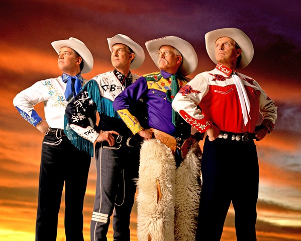 SADDLE UP! Riders in the Sky will deliver music and laughs at the Clark Center on Feb. 15. - PHOTO COURTESY OF RIDERS IN THE SKY