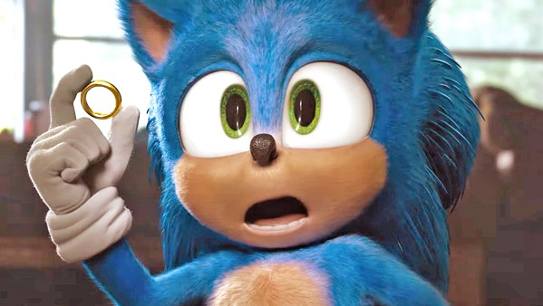 THE FASTEST Sonic (voiced by Ben Schwartz) is being pursued by an evil genius who wants to steal his powers, in the family adventure Sonic the Hedgehog. - PHOTO COURTESY OF PARAMOUNT PICTURES
