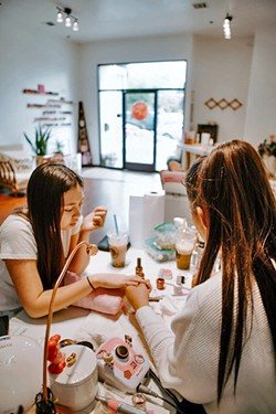 SPACE FOR HAPPINESS Pinkies Up is not just a beauty salon, it's a creative and relaxing space for clients and the Pinkies team. - PHOTO COURTESY OF YESSIE NOJAS