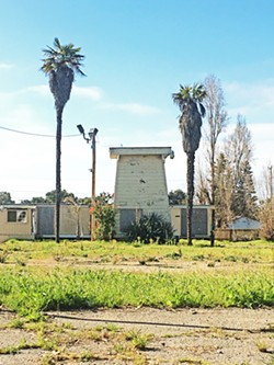 RESTORATION AND PRESERVATION This historic tank house at 1119 East Grand Ave. is one of the few remaining in Arroyo Grande, and soon it will serve as a single-stall bathroom in Heritage Square Park. - PHOTO BY KASEY BUBNASH