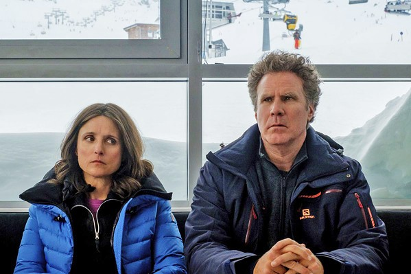 FROSTY This middling comedy-drama Downhill follows married couple Billie (Julia Louis-Dreyfus) and Pete (Will Ferrell), who are forced to re-examine their relationship after the very different ways they reacted to an avalanche. - PHOTO COURTESY OF SEARCHLIGHT PICTURES