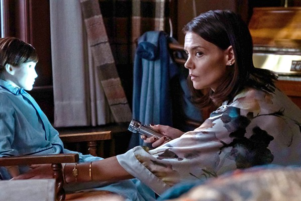 DREADFUL Liza (Katie Holmes) begins to second-guess her decision to let her son keep a lifelike doll he found buried in the woods, in the terrible horror mystery Brahms: The Boy II. - PHOTO COURTESY OF STX ENTERTAINMENT
