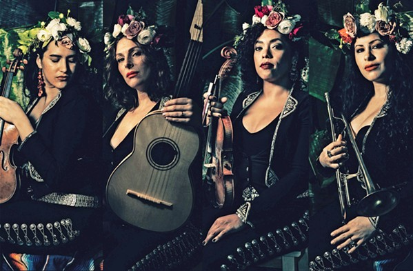BEYOND MARIACHI NYC-based all-female group Flor de Toloache plays the Harold Miossi Hall of the Performing Arts Center on Feb. 28. - PHOTO COURTESY OF FLOR DE TOLOACHE