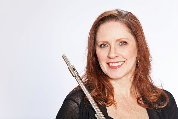 RHAPSODY FOR FLUTE Flutist Suzanne Duffy performs at Cal Poly Wind Ensemble on March 8, in Miossi Hall of the Performing Arts Center. - PHOTO COURTESY OF SUZANNE DUFFY