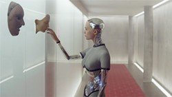 GHOST IN THE MACHINE Alicia Vikander stars as Ava, a form of artificial intelligence in the 2014 sci-fi thriller, Ex Machina, available on Netflix. - PHOTO COURTESY OF UNIVERSAL PICTURES INTERNATIONAL
